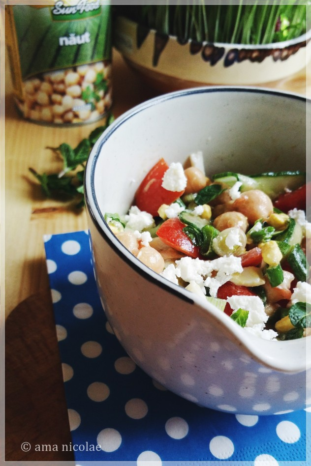 salata de primavara cu naut