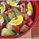 Salata de cartofi noi cu oregano