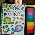 Carte de activitati – pictura cu degetele – Animalele