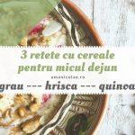3 retete cu cereale pentru micul dejun (grau, hrisca, quinoa)