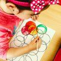 Activitate copii - cerculete si acuarele